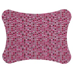 Abstract Pink Squares Jigsaw Puzzle Photo Stand (bow)