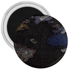 World Map 3  Magnets