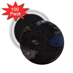 World Map 2 25  Magnets (100 Pack)