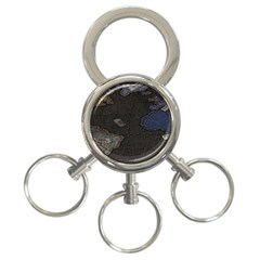World Map 3-Ring Key Chains