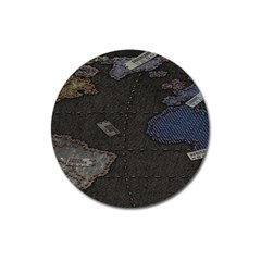 World Map Magnet 3  (Round)