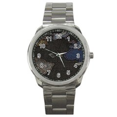 World Map Sport Metal Watch