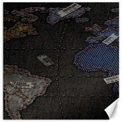 World Map Canvas 12  x 12