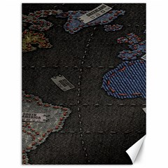 World Map Canvas 12  X 16