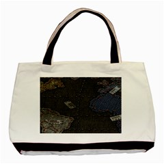 World Map Basic Tote Bag (two Sides)