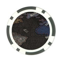 World Map Poker Chip Card Guard