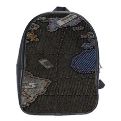World Map School Bags(large)