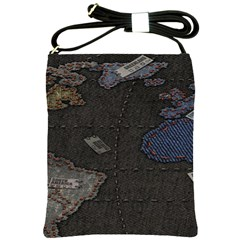 World Map Shoulder Sling Bags