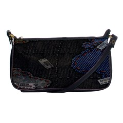 World Map Shoulder Clutch Bags