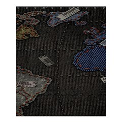 World Map Shower Curtain 60  X 72  (medium)