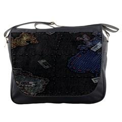 World Map Messenger Bags