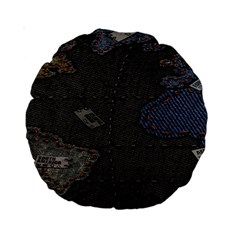 World Map Standard 15  Premium Round Cushions