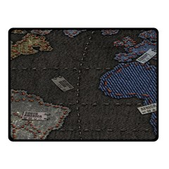 World Map Double Sided Fleece Blanket (Small)