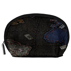 World Map Accessory Pouches (Large)