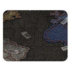 World Map Double Sided Flano Blanket (Large)
