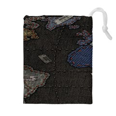 World Map Drawstring Pouches (Extra Large)
