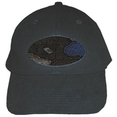 World Map Black Cap