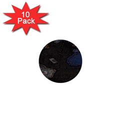 World Map 1  Mini Buttons (10 pack)
