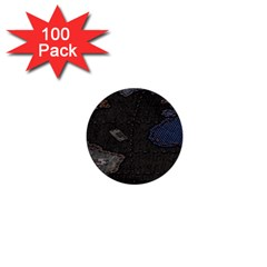 World Map 1  Mini Buttons (100 Pack)