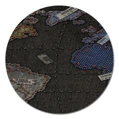 World Map Magnet 5  (round)
