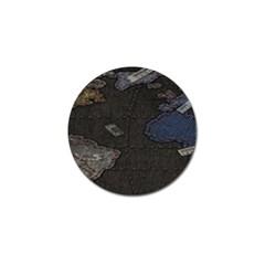 World Map Golf Ball Marker (4 pack)