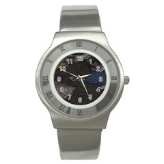 World Map Stainless Steel Watch