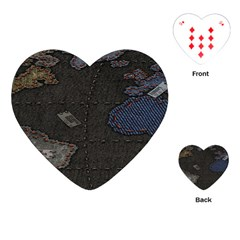 World Map Playing Cards (heart)