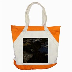 World Map Accent Tote Bag