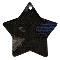 World Map Star Ornament (Two Sides)