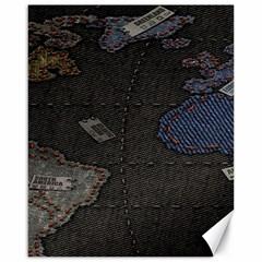 World Map Canvas 16  x 20