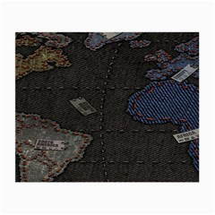 World Map Small Glasses Cloth (2 Side)