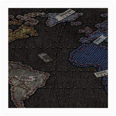 World Map Medium Glasses Cloth