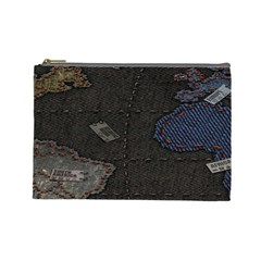 World Map Cosmetic Bag (Large)
