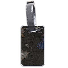 World Map Luggage Tags (Two Sides)