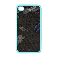 World Map Apple Iphone 4 Case (color)