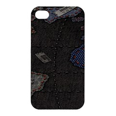 World Map Apple Iphone 4/4s Hardshell Case