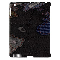 World Map Apple iPad 3/4 Hardshell Case (Compatible with Smart Cover)