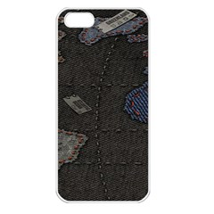 World Map Apple Iphone 5 Seamless Case (white)