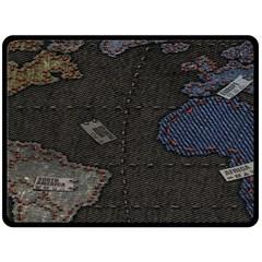 World Map Double Sided Fleece Blanket (Large)