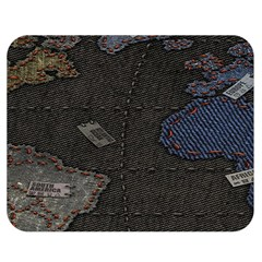 World Map Double Sided Flano Blanket (medium)