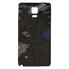 World Map Galaxy Note 4 Back Case