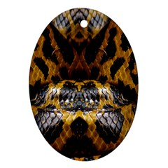 Textures Snake Skin Patterns Ornament (oval)