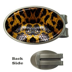 Textures Snake Skin Patterns Money Clips (oval)