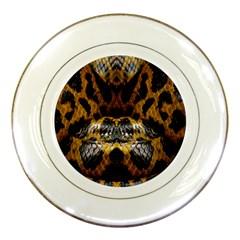 Textures Snake Skin Patterns Porcelain Plates