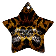 Textures Snake Skin Patterns Star Ornament (Two Sides)