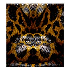 Textures Snake Skin Patterns Shower Curtain 66  x 72  (Large)