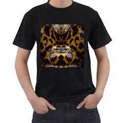 Textures Snake Skin Patterns Men s T Shirt (black)