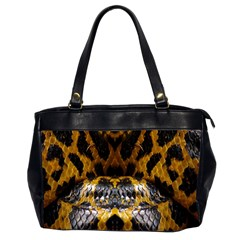 Textures Snake Skin Patterns Office Handbags (2 Sides)