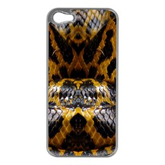 Textures Snake Skin Patterns Apple iPhone 5 Case (Silver)