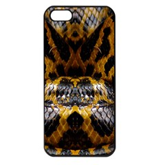 Textures Snake Skin Patterns Apple Iphone 5 Seamless Case (black)